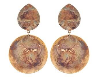 Rainbow Brulee Pavi Earrings