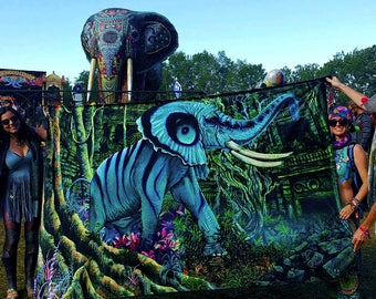 RW2 Elephant Tapestry by Robert Walker