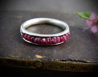 ruby stack ring... July birthstone