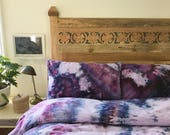 READY To SHIP Dark Magic Hand Dyed Duvet Cover and Pillowcase, Tie Dye Sheets, Anna Joyce, Portland, OR
