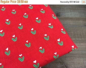 40% OFF- Vintage Floral Fabric-Red Quilting Cotton