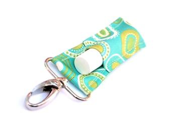 LippyClip™ Lip Balm Holder for Chapstick, Burt's Bees, etc. |  Aqua Modern Dots  |  Free Shipping