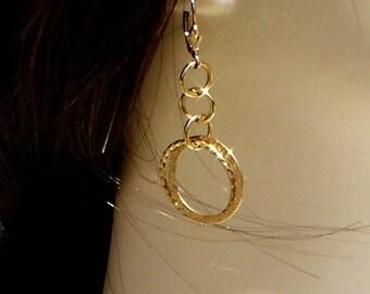 Gold Hoop Earrings Texture Drop earrings