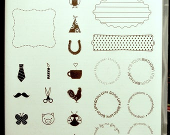 NEW!! Stampin' Up! A Fitting Occasion retired photopolymer stamp set (24)