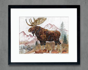 Rocky Mountain Sentinel Moose Print