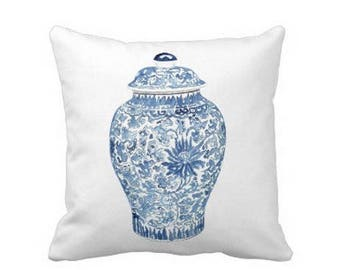 GINGER JAR PILLOW 2 Colors - 4 sizes -  (indoor and outdoor fabrics)