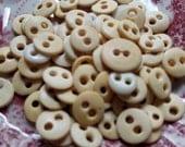 70 Antique Bone Buttons. Shabby Beauties. Civil War Reenactors.