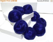 ROVING SALE Royal Blue Firestar, Needle Felting, Spinning Fiber, roving, blue, Red Blue .5 oz, similar to Icicle Top, ships free with wool