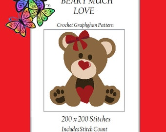 Beary Much Love - Crochet Graphghan Pattern