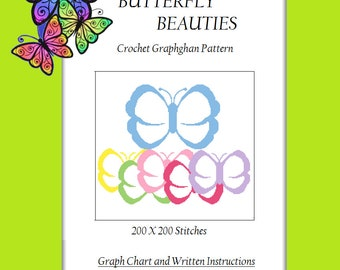 Butterfly Beauties - Crochet Graphghan Pattern