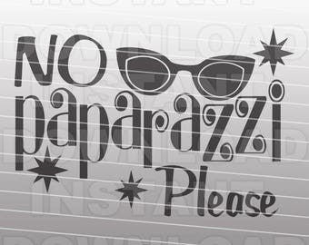 no paparazzi please funny girly onesie toddler svg commercial personal use vector art