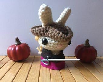 Anne Bonny Moon Bun - Pirate Bunny Rabbit Amigurumi - October Create a Day Challenge Doll