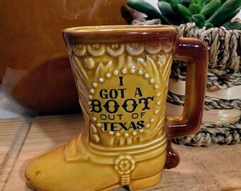 Cute Texas Souvenir Boot Vase