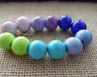 Handmade Lampwork Beads by SweetpeasGlassDesign - Lampwork Glass Beads - Summer Love