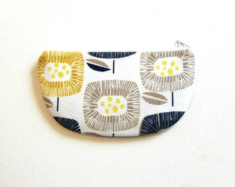 Coin Purse, Small Zipper Pouch, Women and Teens, Mini Wallet, Gift For Her, Skinny LaMinx Around The Block in Navy