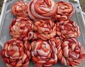 4 oz Peaches & Cream Merino Combed Top Custom Blend Peach Cinnamon Flesh Spin Felt Fiber Art