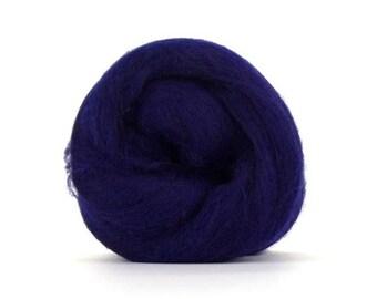 Tanzanite (Purple) Merino Combed Top - 100 grams (3.5 oz) so Spin, Felt, Blend, Create Fiber Art