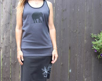 Elephant Tank Top Gray XS,S,M,L,XL
