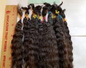 """F179-10 Lustrous Brushed Bundled Washed 6-7"""" Natural  Doll Mohair from Milagro 1/4 oz"""