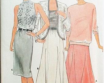 60% OFF SALE 1980s Vintage Sewing Pattern Butterick 4448 Misses Skirt Pattern Size 12, 14, 16 Uncut