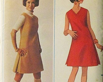 30% OFF SALE 1960s Vintage Sewing Pattern Butterick 4719 Misses One-Piece Dress or Jumper Pattern Size 12 Bust 34 Uncut