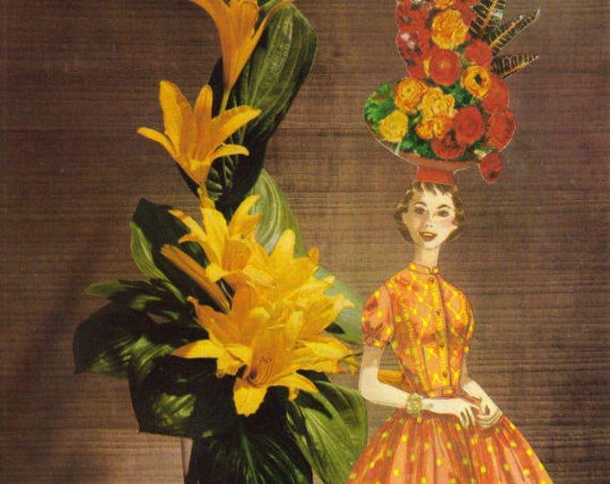 Retro Modern Floral Art Collage