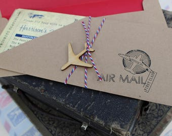 Vintage Air Mail Boarding Pass Birthday Invitation - Design Fee