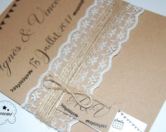 Agnes and Vincent wedding invitation