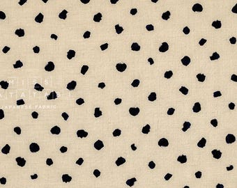 Japanese Fabric paint spots - latte, dark indigo - 50cm