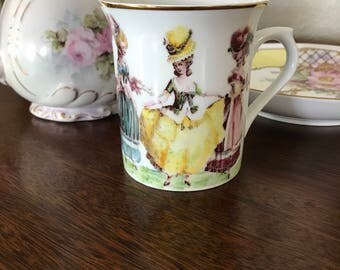 Marie Antoinette ladies in waiting Mug Coffee Cup Porcelain Hand painted Fired on design new