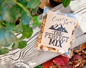 The Perfect Mix Wedding Favor Stickers - Outdoor, Backpacker Wedding, Shower Favors - Kraft Trail Mix DIY Favors - 24 Stickers