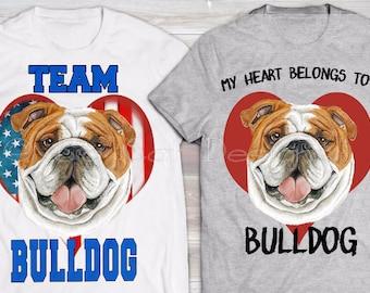 BULLDOG TSHIRT.  Custom Bulldog Gift.  Great Bulldog Rescue Tshirt.  Cute Bulldog T-Shirt. Bulldog Lover Tshirt