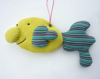 Happy Blobfish - Tim - hand sewn hanging decoration - collectors' doll - collectors' plushie / plushy