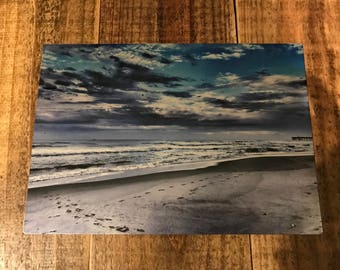Beach, Outer banks, NC 10x7 photo on metal