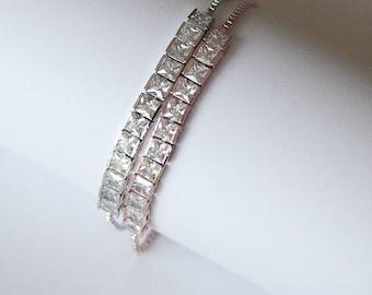 Diamante Tennis Wedding Bracelet Bridal Bracelet Bridal Jewelry Cocktail Jewelry