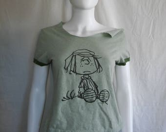 70s 80s t shirt Snoopy peanuts PEPPERMINT PATTY