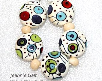 Lampwork  Art Beads by Jeanniesbeads #2090