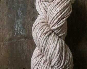 Madder dyed luxury yarn, handspun yarn, super soft yarn, naturally dyed, botanically dyed, plant dyed yarn, peach bulky yarn, 50 yards