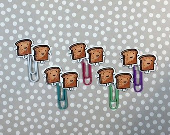 Day Planner Paper Clips • Kawaii Dark Toast • LIMITED RUN