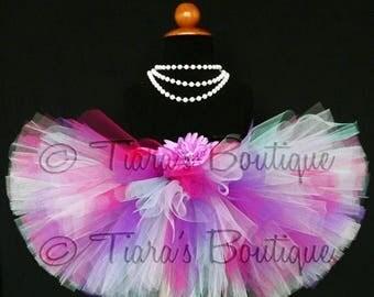 "SUMMER SALE 20% OFF Spring Medley - Custom Sewn 8"" Tutu - sizes Newborn to 5T"