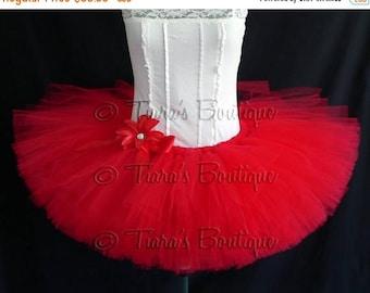 SUMMER SALE 20% OFF Christmas and Valentine's Day Tutu - Red Tutu - Adult Teen Pre-teen Tutu - Custom 12'' Sewn Tutu