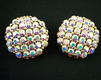 St. John Clip Rhinestone Earrings