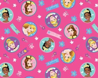Disney's Princesses on Hot Pink, Charcter badges, Cinderella, Rapunzel and Tiana, yard
