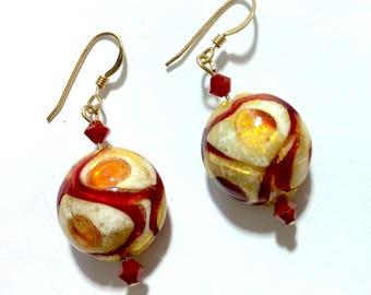 Venetian Bead Earrings