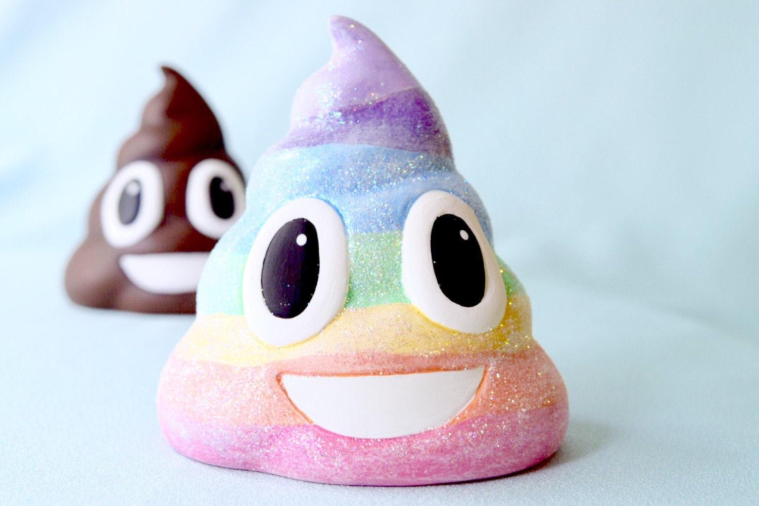how to draw a rainbow poop emoji