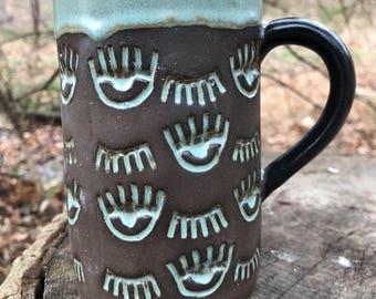 Blink Blink Mug in Turquoise