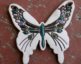 Porcelain Butterfly Focal Pendant