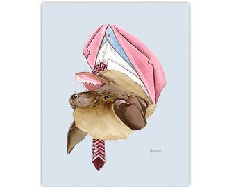 Brown Bat print 8x10