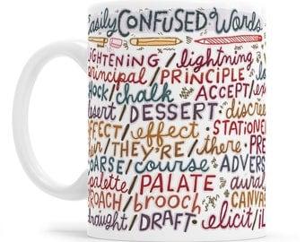 Grammar Police Mug Funny Grammar Mug Funny Coffee Mug Copy Writer Mug Grammar Gifts Journalist Mug Grammar Writer Gift Grammar Mug Gifts for