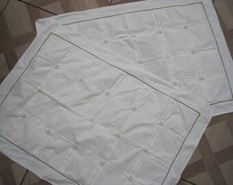 Pair of habitat white cotton oxford pillowcases, vintage white pillowcases